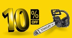 10% off Stanley Power Garden