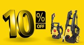 10% off Stanley Electric Pressure Washers